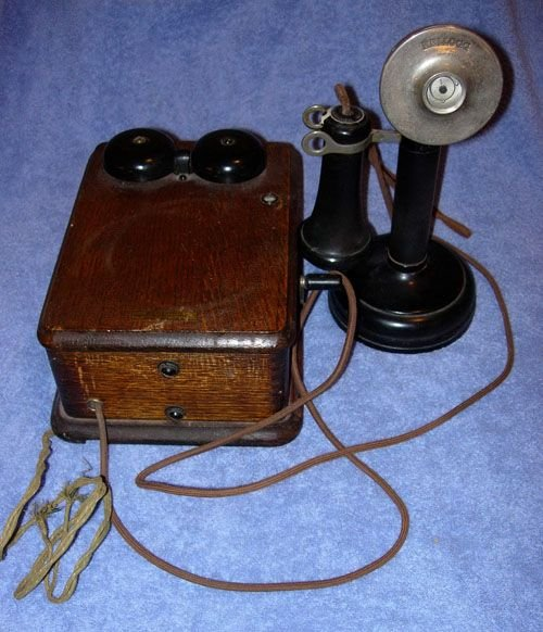 249: 1920 KELLOGG SWITCHBOARD WOODEN OAK VINTAGE TELEPH