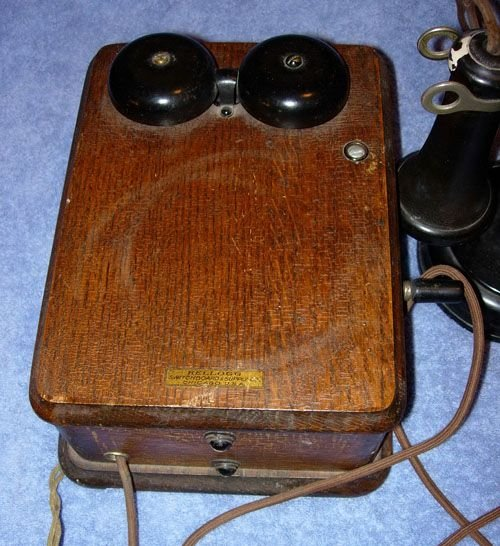 249: 1920 KELLOGG SWITCHBOARD WOODEN OAK VINTAGE TELEPH - 2