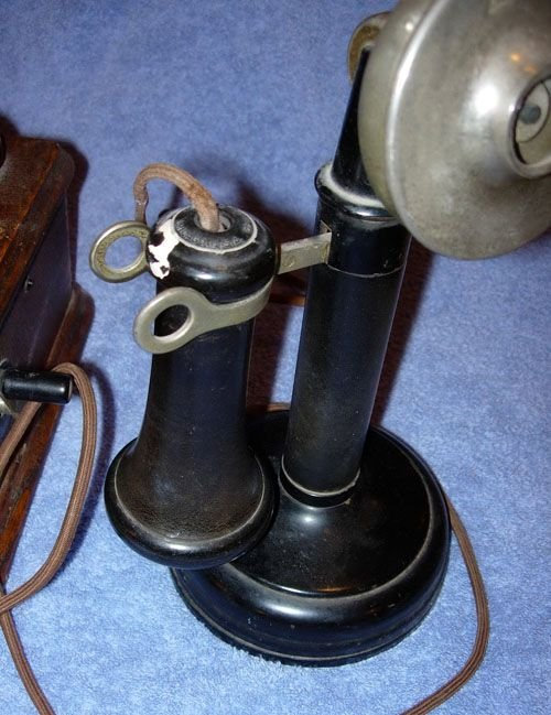 249: 1920 KELLOGG SWITCHBOARD WOODEN OAK VINTAGE TELEPH - 5