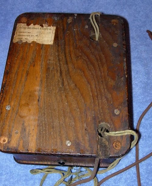 249: 1920 KELLOGG SWITCHBOARD WOODEN OAK VINTAGE TELEPH - 7
