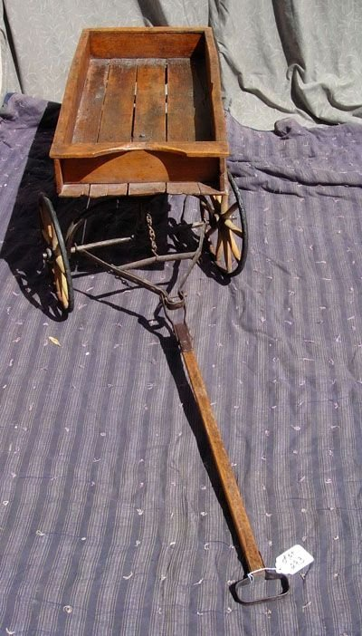 293: 1890  WOODEN WAGON BY  HUNT, HELMS, FERRIS & CO.