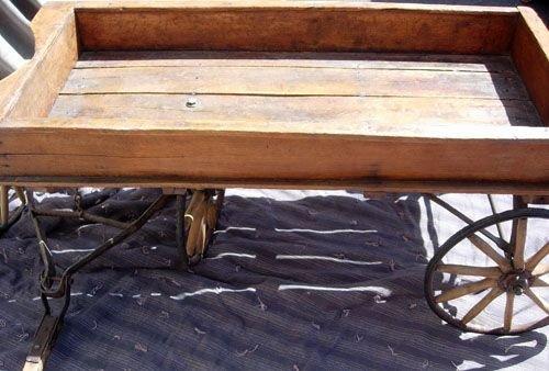 293: 1890  WOODEN WAGON BY  HUNT, HELMS, FERRIS & CO. - 6