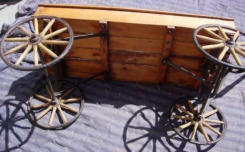 293: 1890  WOODEN WAGON BY  HUNT, HELMS, FERRIS & CO. - 7