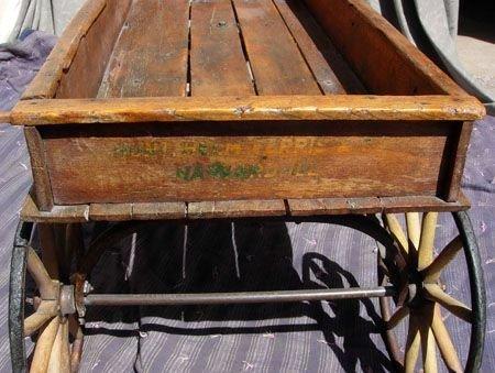 293: 1890  WOODEN WAGON BY  HUNT, HELMS, FERRIS & CO. - 9