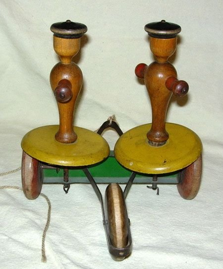 436: 1920's WHIRLY TINKER PULL TOY MADE BY THE TOY TIN - 3