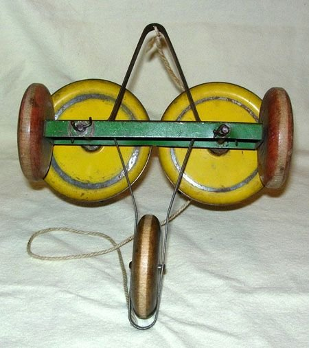 436: 1920's WHIRLY TINKER PULL TOY MADE BY THE TOY TIN - 4