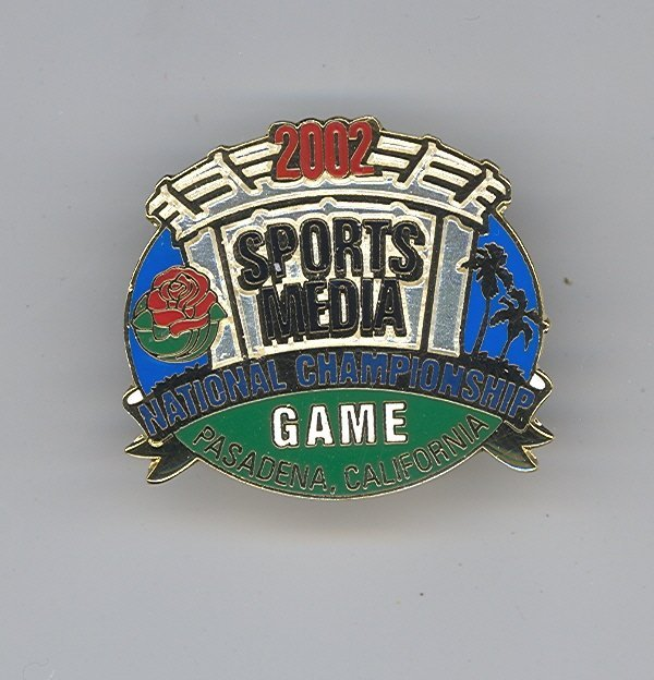 1004: 2002 ROSE BOWL BCS MEDIA PIN NEBRASKA MIAMI