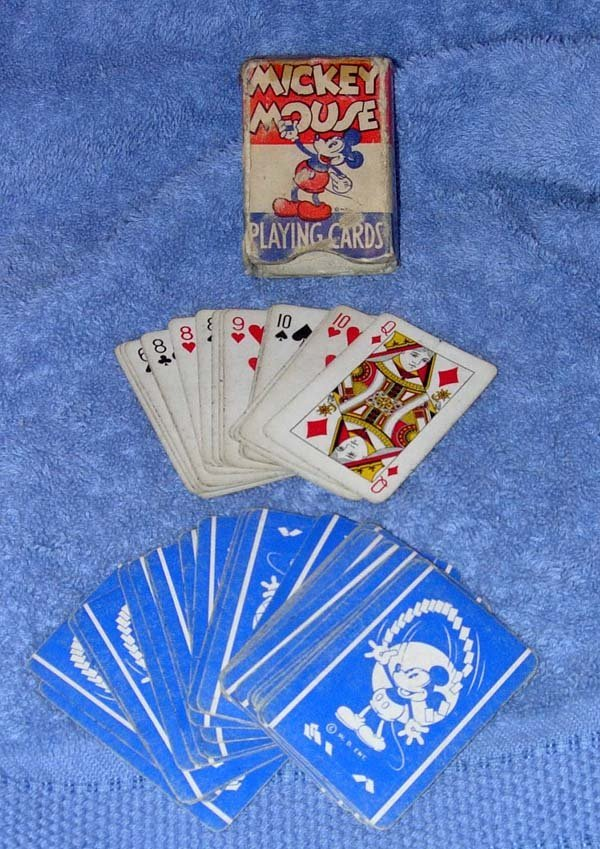 1005: 1930's MICKEY MOUSE PLAYING CARDS W.D. ENT.