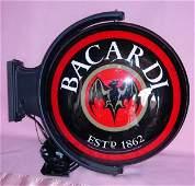1075: 2003 BACARDI LIGHTED PUB SIGN W/ BAT LOGO