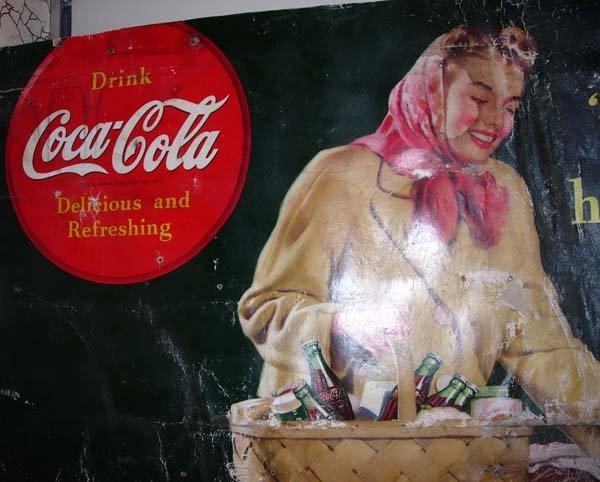 1124: 1946 WORLD WAR II COCA-COLA SIGN - COMING HOME - 2