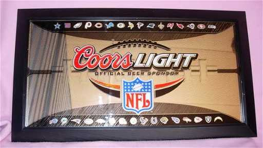 1175 coors light nfl mirror sign w nfl team logos aloadofball Image collections