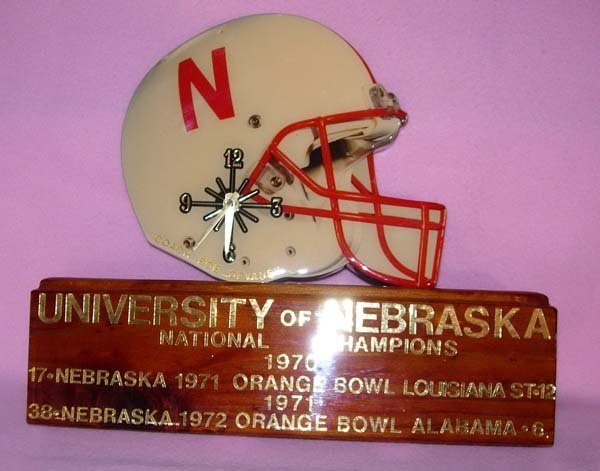 1275: NEBRASKA HUSKERS BOB DEVANEY'S OFFICE CLOCK