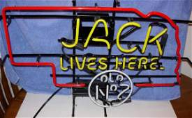 1299: NEBRASKA JACK DANIELS NO. 7 NEON JACK LIVES HERE