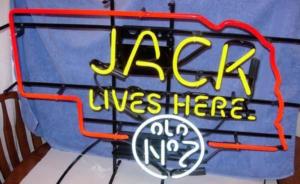1299: NEBRASKA JACK DANIELS NO. 7 NEON JACK LIVES HERE - 3