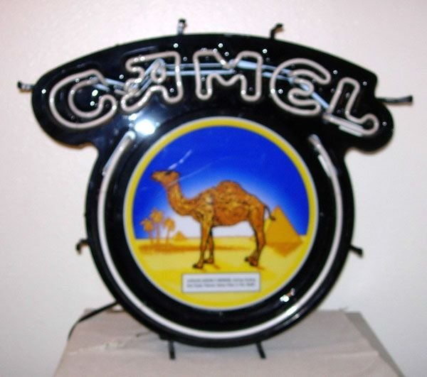 1023: CAMEL EMBOSSED NEON SIGN WITH CAMEL