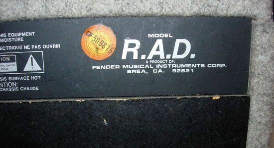 1138: FENDER AMPLIFIER - MODEL R.A.D. #LO-212253 - 5
