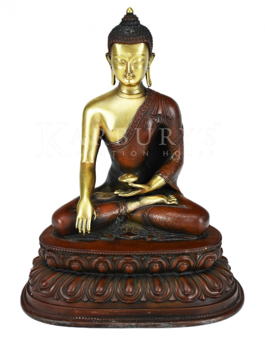 Copper Alloy Seated Figure of Buddha Shakyamuni