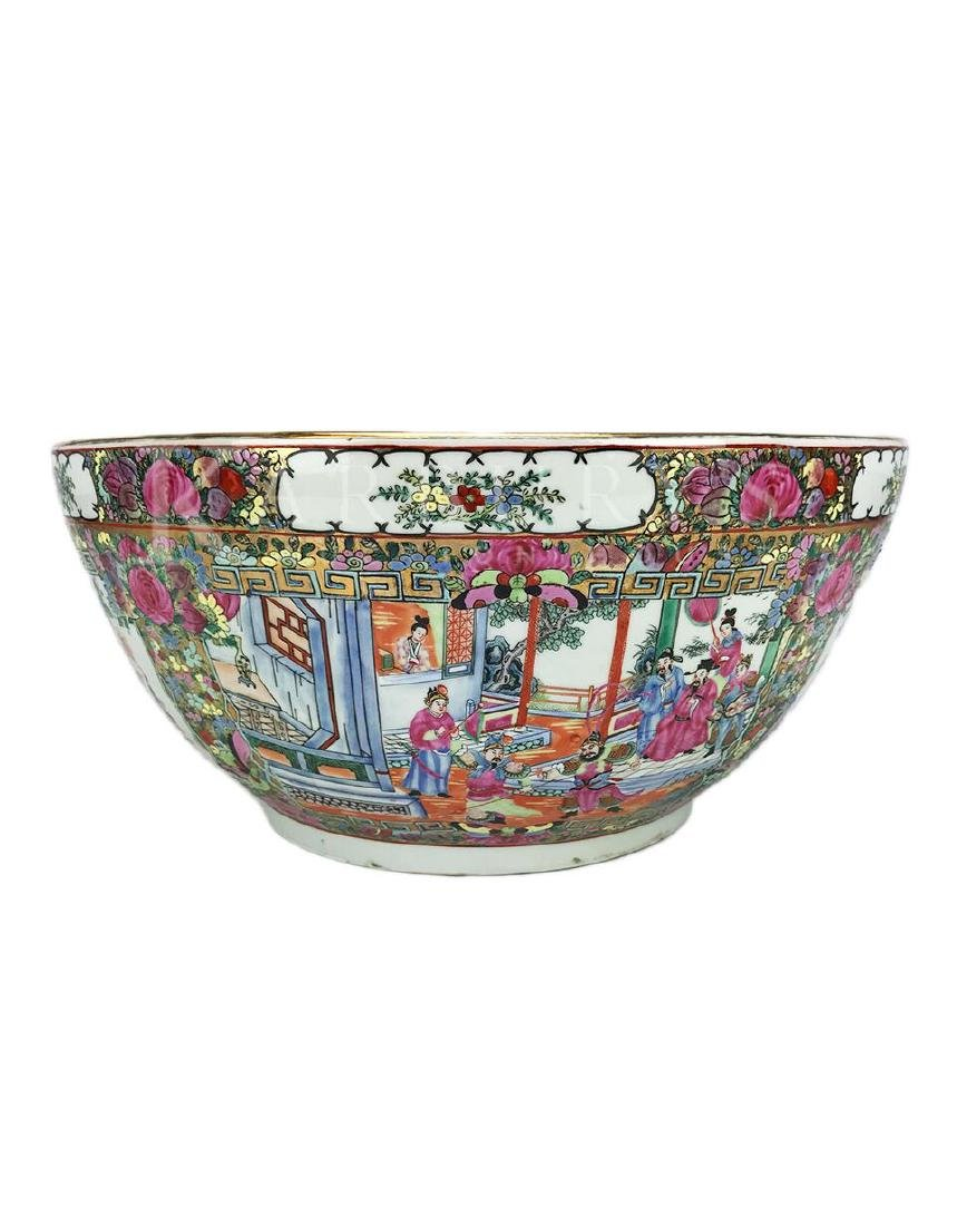 A Large Cantonese Famille Rose Bowl with Qianlong Mark - 2