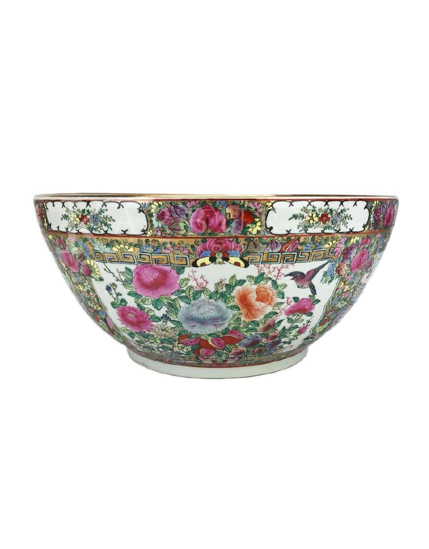A Large Cantonese Famille Rose Bowl with Qianlong Mark - 3