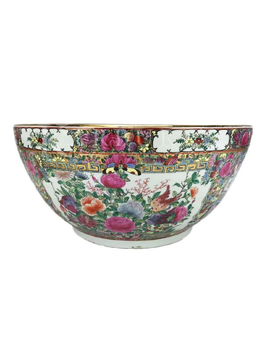 A Large Cantonese Famille Rose Bowl with Qianlong Mark - 5