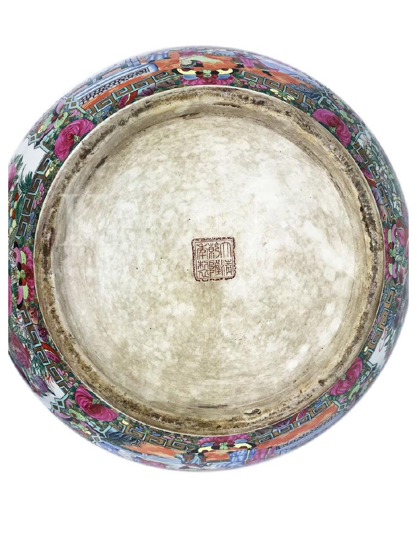 A Large Cantonese Famille Rose Bowl with Qianlong Mark - 7