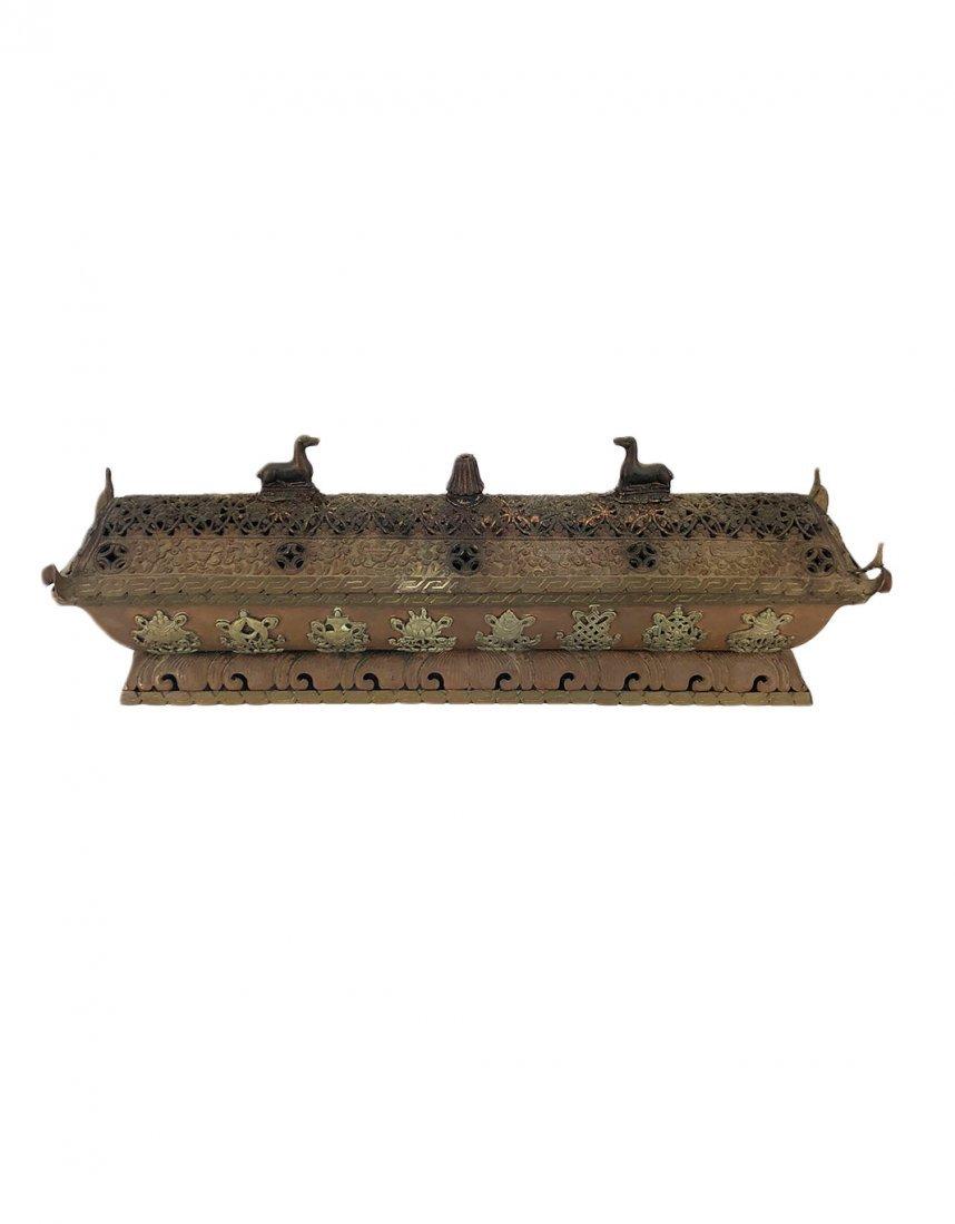 A Large Vintage Tibetan Incense Burner