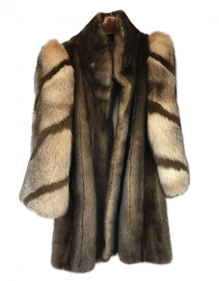Vintage Dark Brown Mink Fur Coat