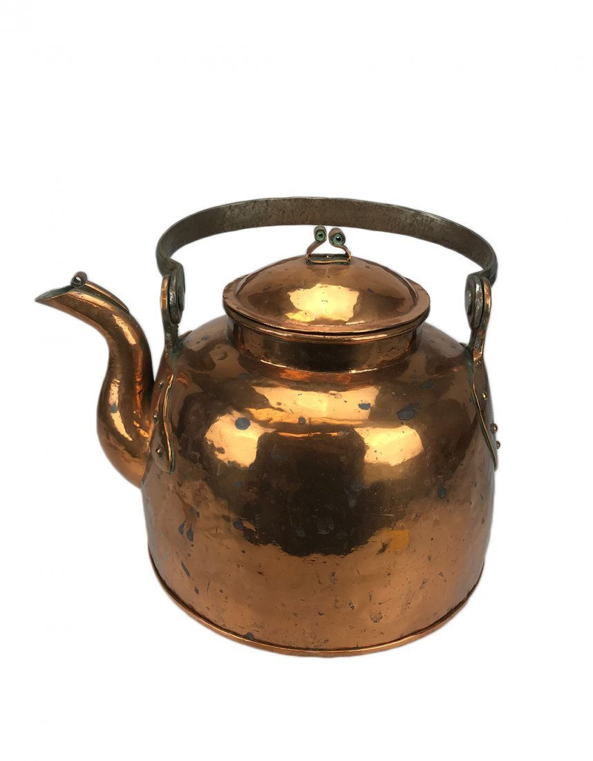 A Massive Antique Copper Kettle