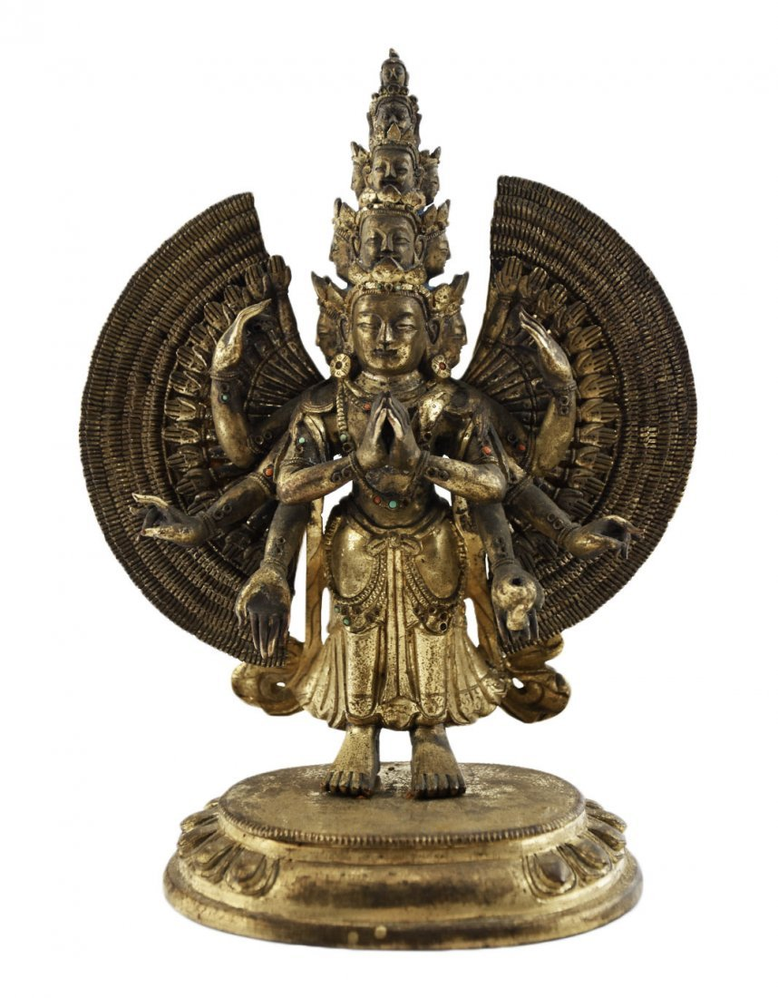 A Gilt-Bronze Figure of Bodhisattva Avalokitesvara