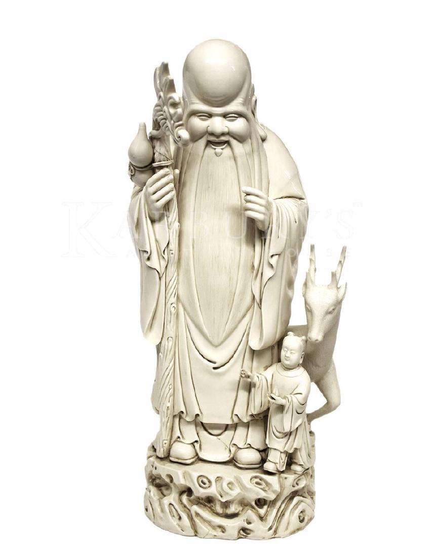 A Blanc de Chine Statue of An Immortal