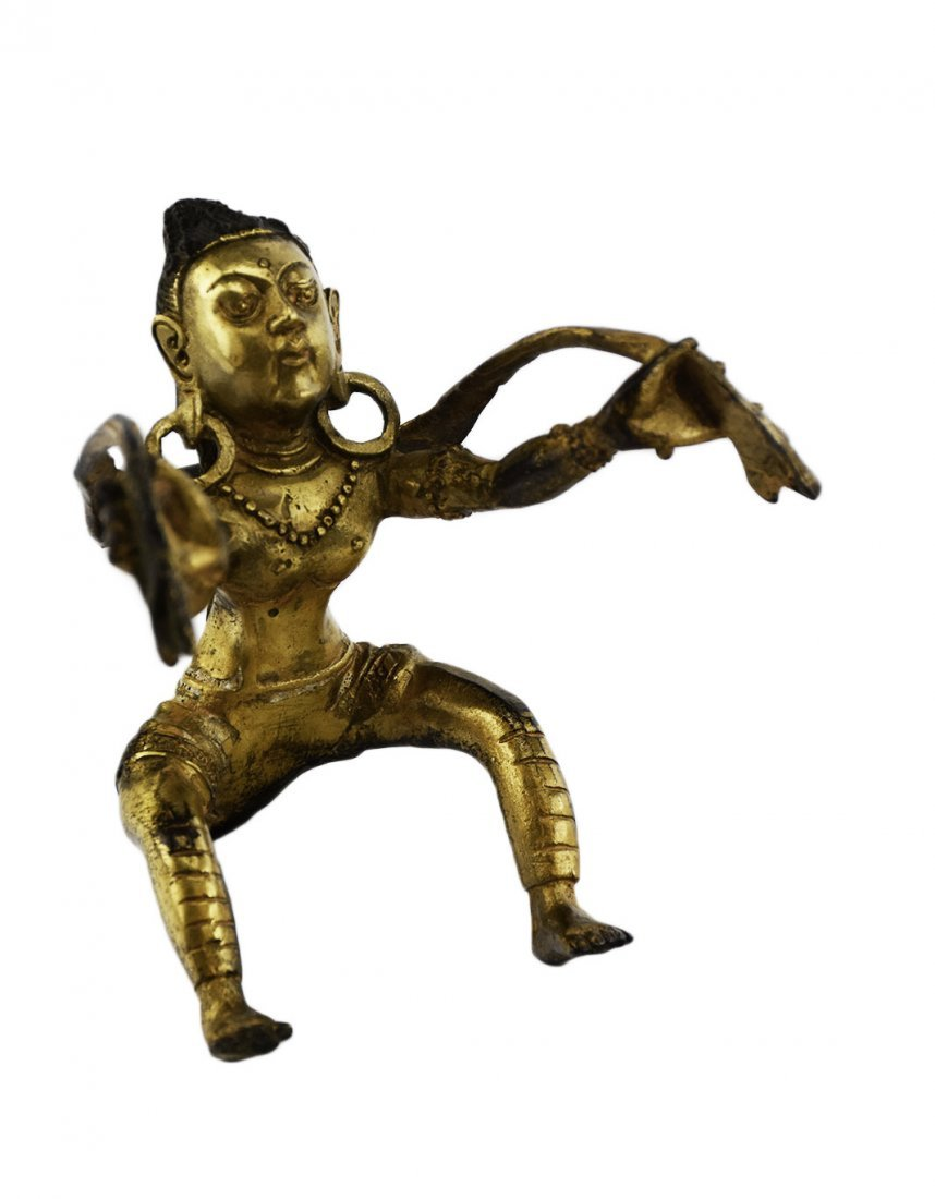 A Gilt Bronze Figure of Consort for a Vajradhara