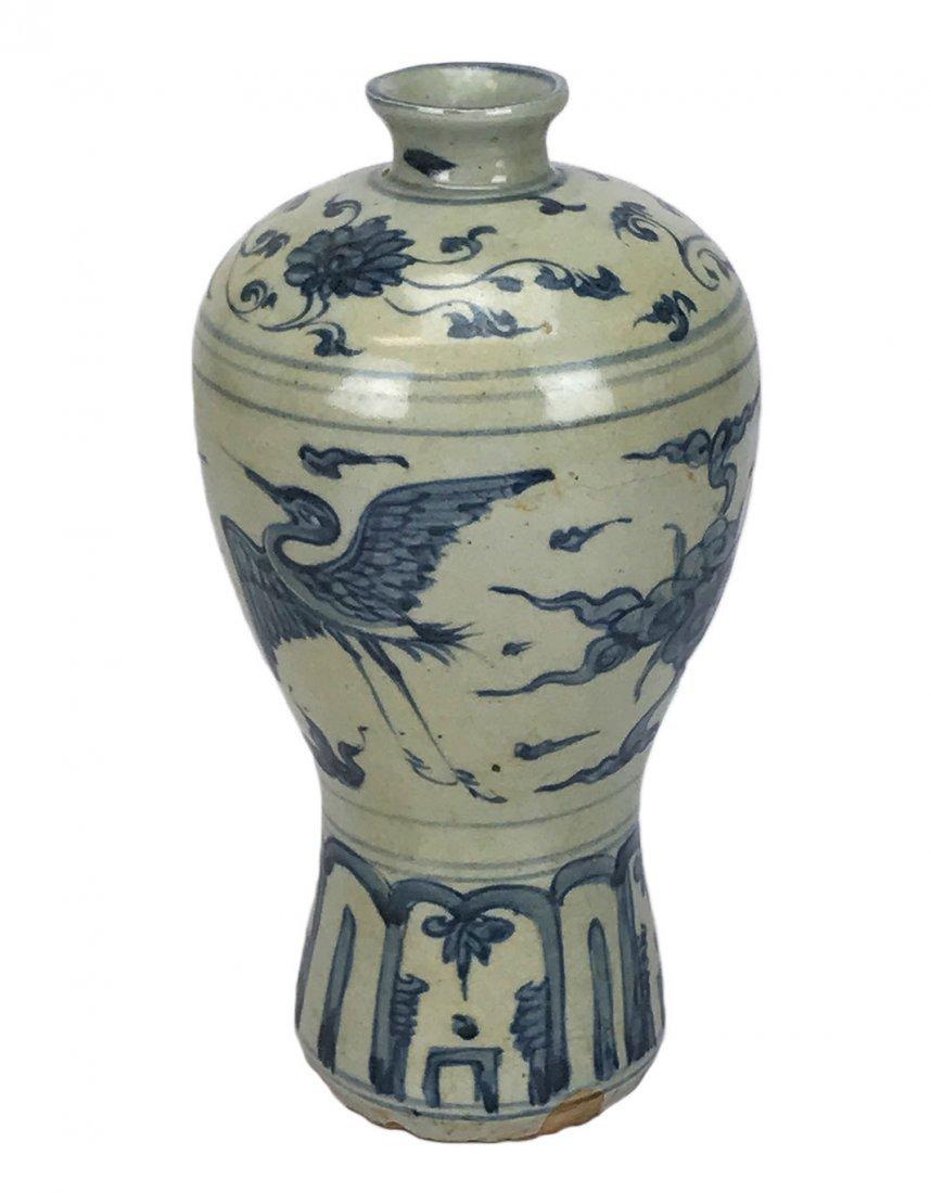 A Jiajing Underglaze Vase in Meiping Shape