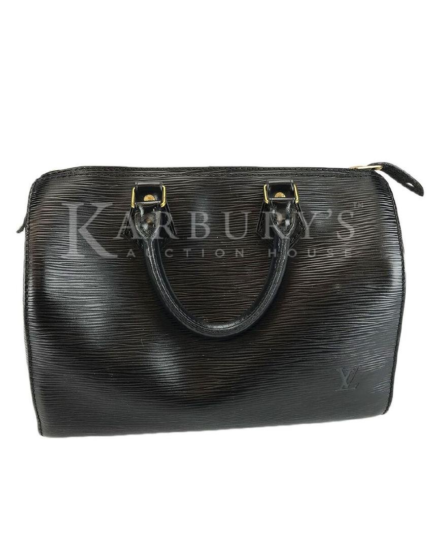 Louis Vuitton Speedy Noir Epi 25 Black Leather Handbag - 2