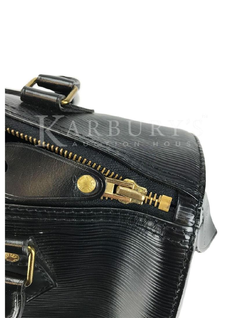 Louis Vuitton Speedy Noir Epi 25 Black Leather Handbag - 9