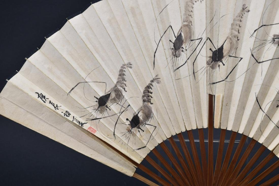 Chinese Fan Painting with Calligraphy - 3