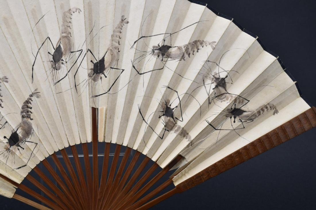Chinese Fan Painting with Calligraphy - 5