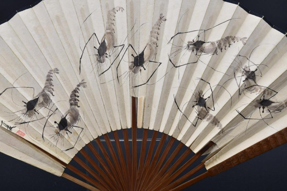 Chinese Fan Painting with Calligraphy - 6