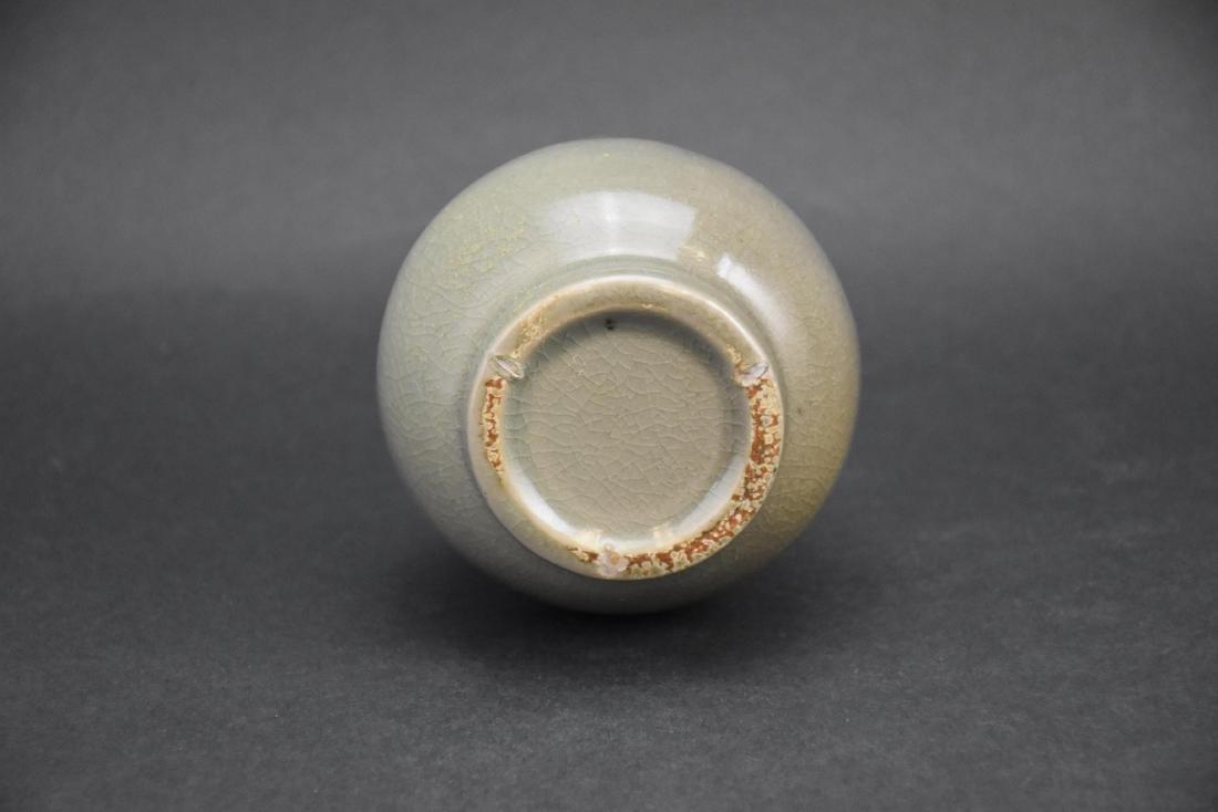 Celadon-Glazed Long Neck Vase - 7