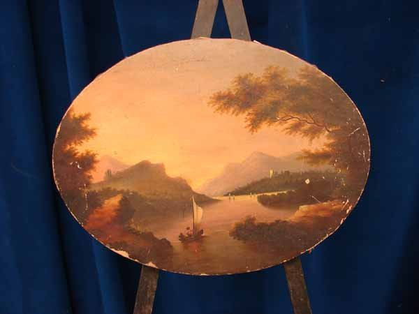 6: Oil on canvas, oval