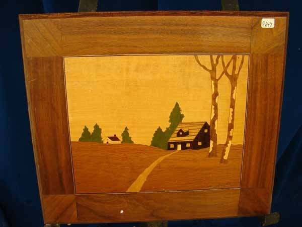21: Painting on wood, Wood Cabin
