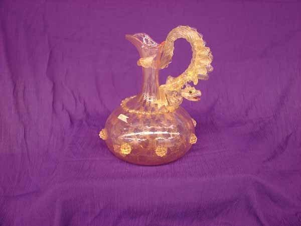 272: hand blown ornate pitcher