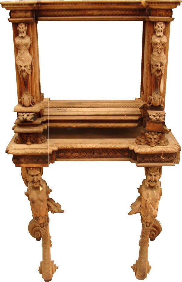 402: Ornately Carved Italian Secretary