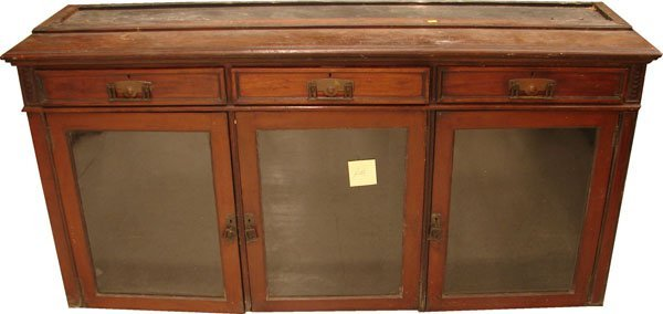 403: 3 drawer 3 door book display glass cabinet/buffet