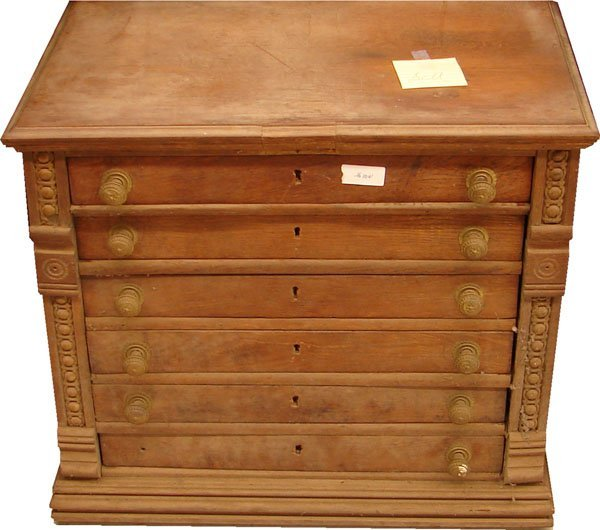 408: Coats and Clark 6 drawer spool cabinet