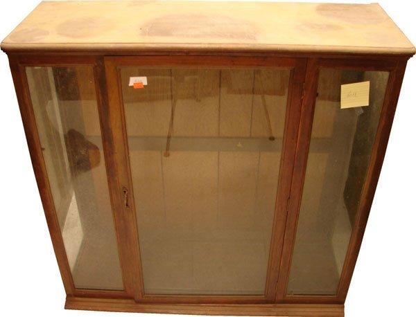 416: Mahogany display case