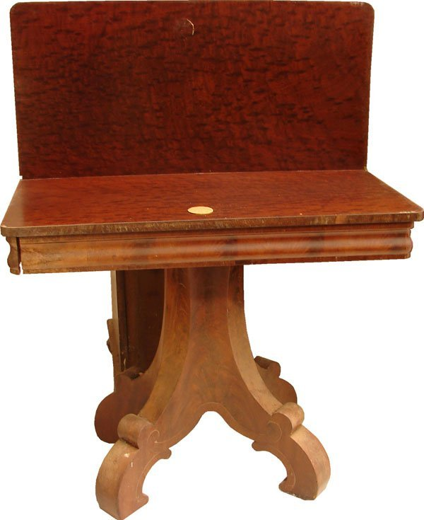 417: Period Empire Game Mahogany Game Table