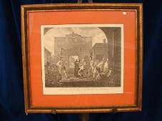 956 engraving of people in court yard