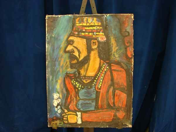 2014: Oil on Canvas, reproduction of George Rouault's w