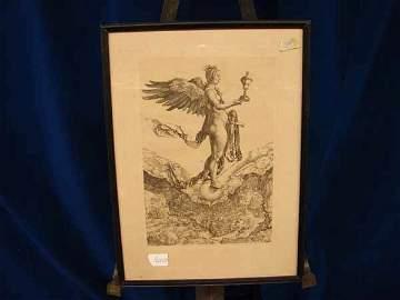 2034: Print, steel engraving by Albrecht Durer, German