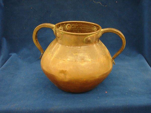 2506: Vessel, copper, origin unknown, double handle w/u